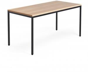 Stôl Modulus 1600x800mm, čierna konštrukcia, dub