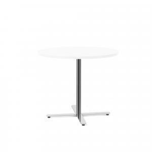 Stôl Tilo, Ø900x720 mm, chróm / biela