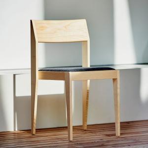 Stolička NORA | polstrovaná (set 2 ks) natural » sivý poťah
