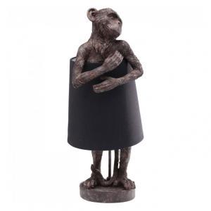 Stolná lampa Animal Monkey – šedá, hnedá