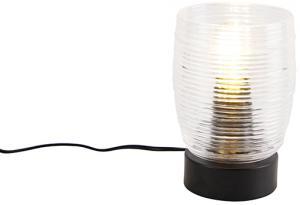 Stolná lampa v štýle Art Deco čierna - Michi