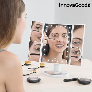 Stolné zrkadlo zväčšovacie InnovaGoods 4-v-1 LED IN