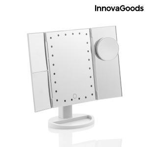 Stolné zväčšovacie zrkadlo InnovaGoods 4-v-1 LED IN0904