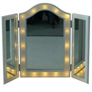 Stolný rozkladacia zrkadlo s LED osvetlením Mirra| biele