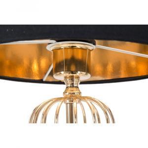 Stolová lampa v čierno-zlatej farbe Mauro Ferretti Glam Towy, výška 51 cm