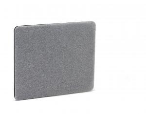 Stolová prepážka Zip, 800x650 mm, šedá