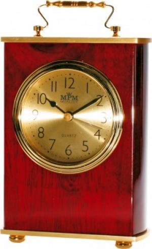 Stolové hodiny MPM, 2839.55, gold - gaštan, 18cm