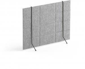 Stolový paraván Split, 600x430 mm, svetlošedá