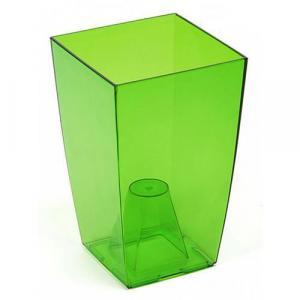 Strend Pro 255423 Kvetinac FINEZJA, 125x125x200 mm, zelený transparent