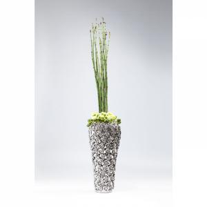 Stříbrná kameninová váza Rose Multi Chrome Big 45cm