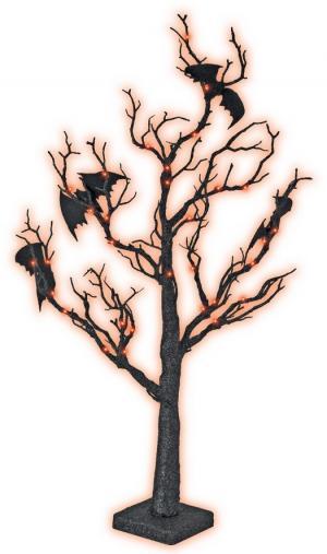 Strom Halloween s netopiermi - 70cm