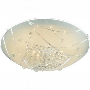 Stropné/nástenné svietidlo LED - Globo - Elisa - 40415-12 (s kryštálmi) (chróm + opál). Sme autorizovaný predajca Globo.