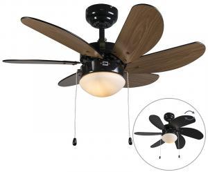 Stropný ventilátor čierny - Fresh 3