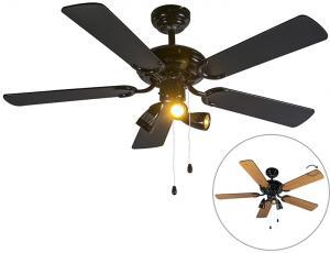 Stropný ventilátor čierny - Mistral 42