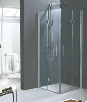 Stvorcový sklápací sprchový kút 90x90 Dynamic A6 - 90 / grape / Šedá
