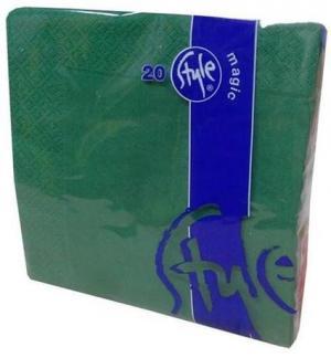 Style - magic Obrúsky 2-vrstvové St. Magic,  tmavo zelené, 20 ks