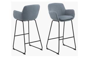 Štýlová barová stolička Alcide, modrá