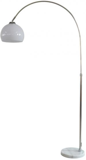 Štýlová stojanová lampa Arch 135 - 157 cm biela