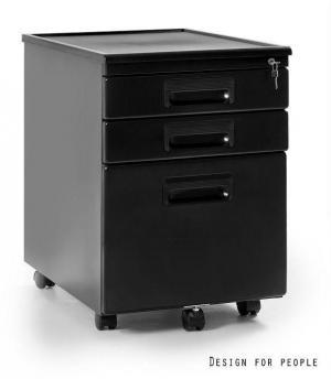 Štýlová zásuvková skrinka Cassie čierna