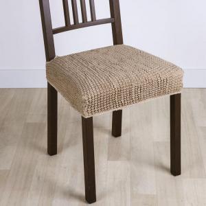 Super strečové poťahy GLAMOUR oriešková stoličky 2 ks 40 x 40 cm