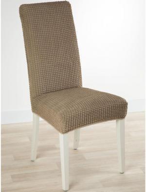 Super strečové poťahy GLAMOUR oriešková stoličky s operadlom 2 ks 40 x 40 x 60 cm