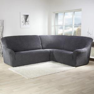 Super strečové poťahy GLAMOUR šedá rohová sedačka (š. 350 - 530 cm)
