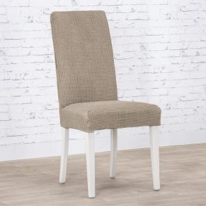 Super strečové poťahy NIAGARA oriešková stoličky s operadlom 2 ks (40 x 40 x 55 cm)