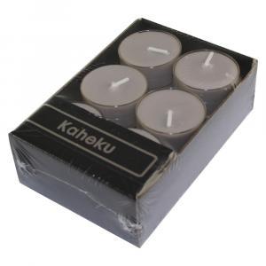Súprava 12 sivohnedých čajových sviečok Ego Dekor Silea, doba horenia 4 h