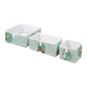 Súprava 3 detských úložných boxov Mr. Little Fox Close Friends