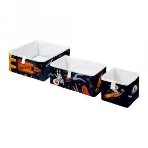 Súprava 3 detských úložných boxov Mr. Little Fox Space Adventure
