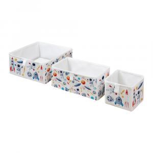 Súprava 3 detských úložných boxov Mr. Little Fox Space