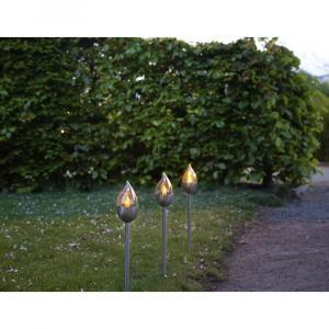 Súprava 3 vonkajších svetelných LED dekorácií Best Season Olympus, výška 40 cm