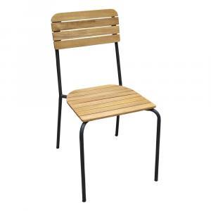 Súprava 4 stohovateľných záhradných stoličiek Ezeis Scool