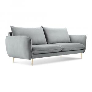 Svetle šedá pohovka se sametovým potahem Cosmopolitan Design Florence