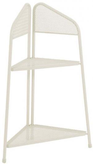 Svetlobéžová kovová rohová polica na balkón ADDU MWH, výška 100 cm