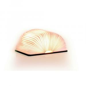 Svetlohnedá LED stolová lampa v tvare knihy z javorového dreva Gingko Mini