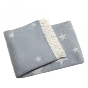 Svetlomodrá deka s podielom bavlny Euromant Stars, 140 x 160 cm