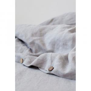 Svetlosivá ľanová obliečka na perinu Linen Tales, 140 x 220 cm