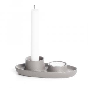 Svetlosivý svietnik EMKO Aye Aye Two Candles