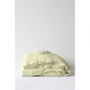 Svetlozelená ľanová obliečka na perinu Linen Tales, 140 x 200 cm
