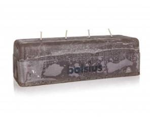 Svíčka rustikální 80 / 250 / 90 mm, 4 knoty, hnědá