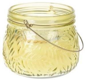 Sviečka v skle Lame žltá, 11 x 9 cm