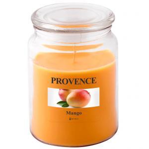 Sviečka v skle s viečkom, mango