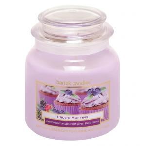 Sviečka v skle s viečkom MUFFIN Lesné plody 430 g
