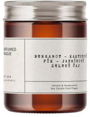 Sviečka zo sójového vosku s vôňou bergamotu a zeleného čaju Perfumed Prague, doba horenia 40 h