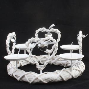 Svietnik kovový -Srdiečka, 27cm