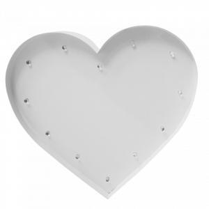 SWEETLIGHTS Detská lampička Heart White Small bulbs - menšia