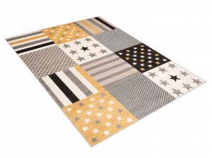 TA Detský koberec Aurel - žltý Rozmer: 80x150