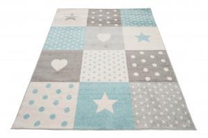 TA Detský koberec Ruth White/Lazur Rozmer: 120x170