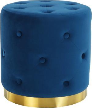 Taburet, kráľovská modrá Velvet látka/zlatý náter, LEONID